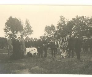 Madonas aizsargu pulka karoga iesvētīšana, 1923. g.